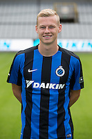 Club's Nikola Storm poses for the photographer during the 2015-2016 season photo shoot of Belgian first league soccer team Club Brugge, Friday 17 July 2015 in Brugge