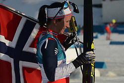 February 25, 2018 - Pyeongchang, South Korea - MARIT BJOERGEN of Norway after winning the Ladies' 30km Mass Start Classic cross-country ski racing event in the PyeongChang Olympic Games. (Credit Image: © Christopher Levy via ZUMA Wire)