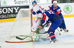Stephen Murphy of Great Britain vs David Rodman of Slovenia during ice-hockey match between Great Britain and Slovenia at IIHF World Championship DIV. I Group A Slovenia 2012, on April 15, 2012 in Arena Stozice, Ljubljana, Slovenia. (Photo by Vid Ponikvar / Sportida.com)