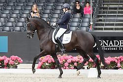 Bruntink Vai, (NED), Ebony<br /> Selectie 6 jarige WK paarden<br /> Dutch Championship Dressage - Ermelo 2015<br /> © Hippo Foto - Dirk Caremans<br /> 18/07/15