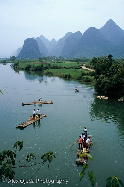 Bamboo flat bottom boat, China