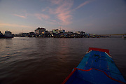 Mekong Delta. Boat trip along the Can Tho River at dawn.