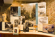 Interpretive display at the Multnomah Lodge, Columbia River Gorge National Scenic Area