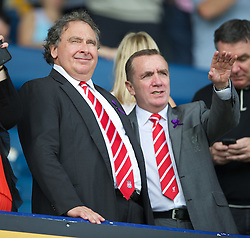LIVERPOOL, ENGLAND - Saturday, October 1, 2011: Liverpool's Vice-Chairman David Ginsberg and Commercial Director Ian Ayre during the Premiership match against Everton at Goodison Park. (Pic by David Rawcliffe/Propaganda)