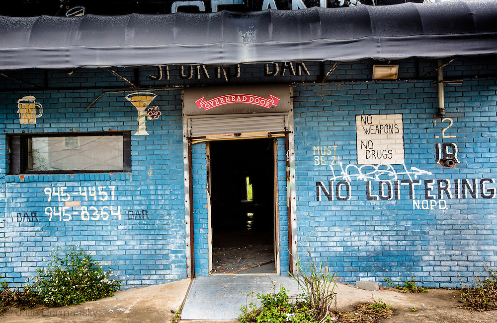 April 11, 2013, Blighted bar in New Orleans almost eight years after Hurricane Katrina in the 9th Ward.