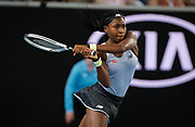 Coco Gauff of the United States in action during her first round match at the 2020 Australian Open, WTA Grand Slam tennis tournament on January 20, 2020 at Melbourne Park in Melbourne, Australia - Photo Rob Prange / Spain ProSportsImages / DPPI / ProSportsImages / DPPI