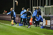 Forest Green Rovers manager, Mark Cooper during the FA Trophy match between Truro City and Forest Green Rovers at Treyew Road, Truro, United Kingdom on 13 December 2016. Photo by Shane Healey.