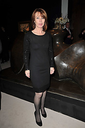 Presenter KAY BURLEY at a cocktail party and auction to launch the forthcoming celebrations for Mikhail Gorbachev's 80th birthday held at Christie's, 8 King Street, London on 3rd February 2011.