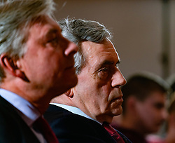 Former Prime Minister Gordon Brown and Richard Leonard (l) at launch of Scottish Labour's European Elections campaign at The Lighthouse in Glasgow ,May 2019.