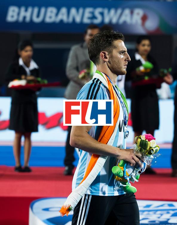 BHUBANESWAR - Lucas Vila (Arg) .  Hockey World League finals , Final Australia-Argentina (2-1) . Australia wint de finale. COPYRIGHT KOEN SUYK
