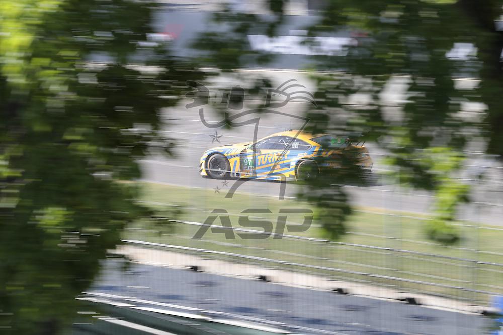 Detroit, MI - Jun 03, 2016:  The Turner Motorsport BMW M6 GT3 races through the turns at the Detroit Grand Prix at Belle Isle Park in Detroit, MI.