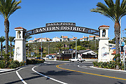 Lantern District Gateway Arch Signage at Pacific Coast Highway and Del Prado