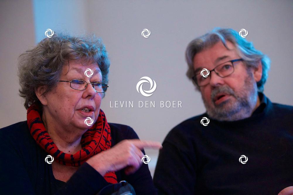 UTRECHT - Perspresentatie van een nieuw tv programma 'Hier zijn de Van Rossems'. Met hier op de foto  Sis en Maarten van Rossem. FOTO LEVIN DEN BOER - PERSFOTO.NU