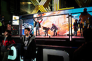 31 January 2014, New York, USA. Thousands of people in Time Square streets waiting for the start of XLVIII Super Bowl.