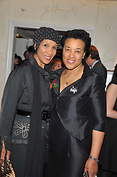 Left to right, sisters GRETA SCOTLAND and BARONESS SCOTLAND at The Great Initiative event in association with jewellers Boodles held at The Corinthia Hotel, London on 6th November 2012.