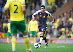 NORWICH, ENGLAND - Saturday, September 29, 2012: Liverpool's Nuri Sahin in action against Norwich City during the Premiership match at Carrow Road. (Pic by David Rawcliffe/Propaganda)