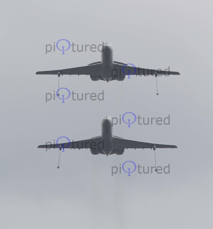 RAF VC-10 Tanker Queen's Birthday Parade Trooping The Colour, London, UK, 12 June 2010. For piQtured Sales contact: Ian@piqtured.com Tel: +44(0)791 626 2580 (Picture by Richard Goldschmidt/Piqtured)