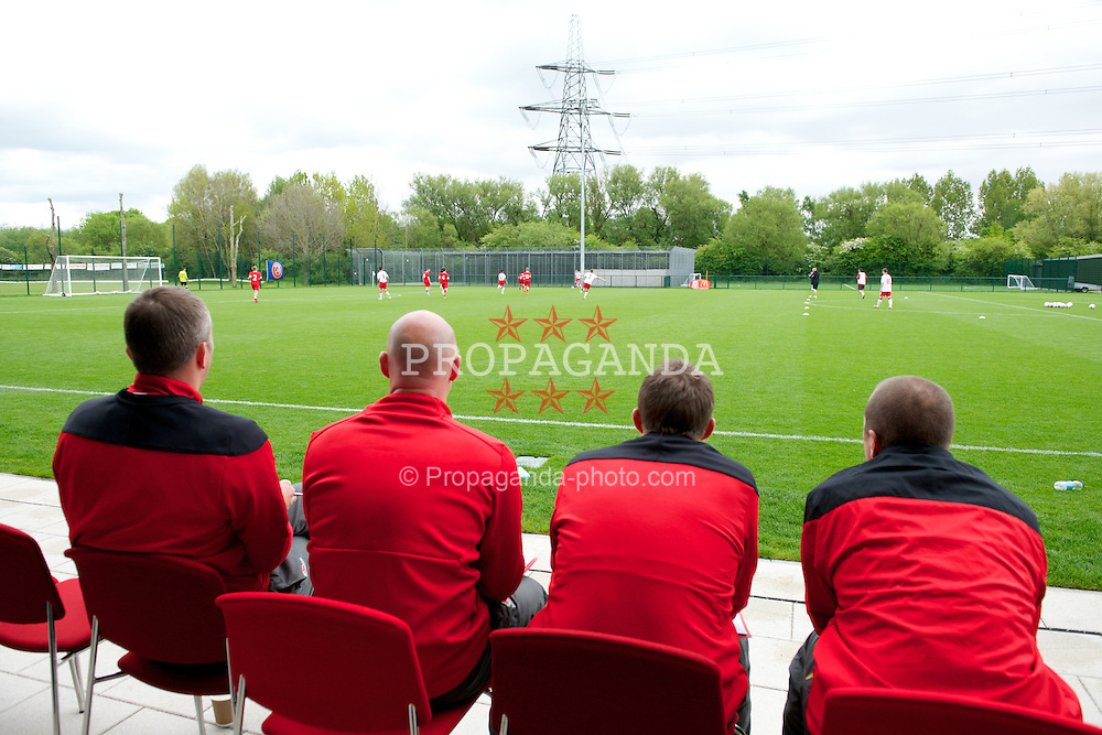 NEWPORT, WALES - Wednesday, May 22, 2013: Coaches during the Football Association of Wales' UEFA Pro Licence Course 2013 at Dragon Park. (Pic by David Rawcliffe/Propaganda)