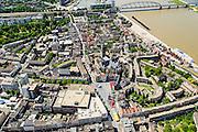 Nederland, Gelderland, Nijmegen, 09-06-2016; binnenstad Nijmegen.<br /> Grote Markt, Waalkade, Stevenskerk.<br /> Town of Nijmegen, inner city.<br /> luchtfoto (toeslag op standard tarieven);<br /> aerial photo (additional fee required);<br /> copyright foto/photo Siebe Swart