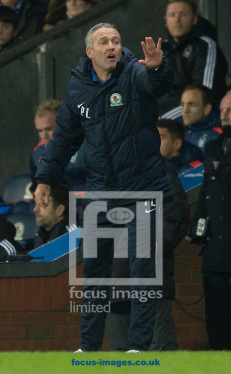 Blackburn Rovers manager Paul Lambert instructs his players during the Sky Bet Championship match at Ewood Park, Blackburn<br /> Picture by Russell Hart/Focus Images Ltd 07791 688 420<br /> 14/12/2015