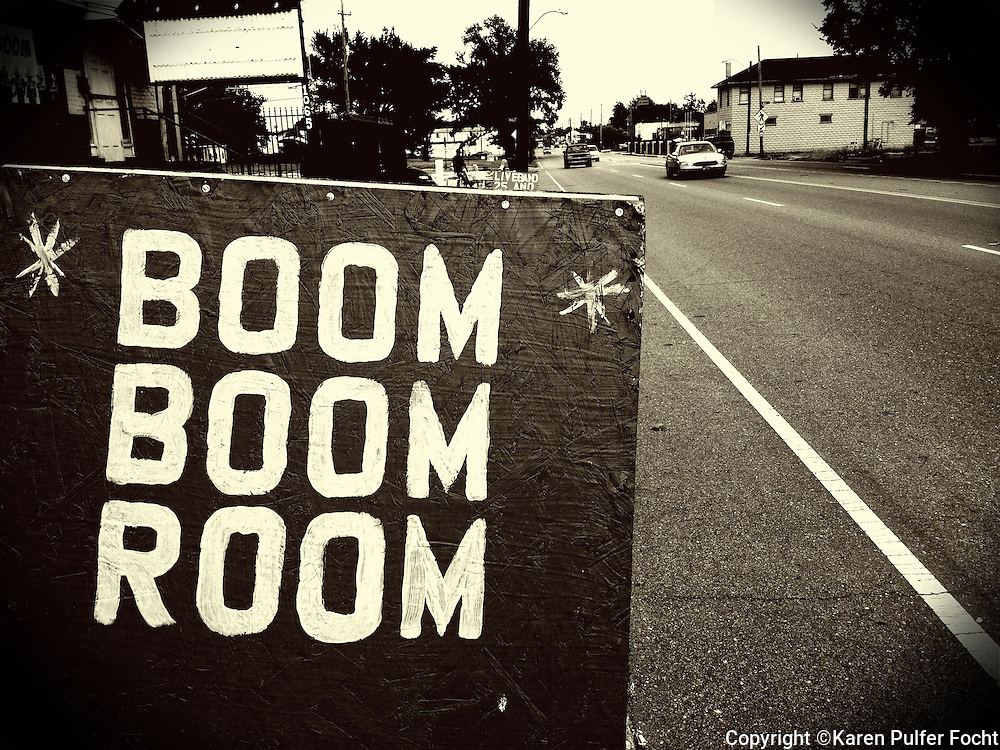 """An advertisement for The Boom Boom Room in Memphis, Tennessee. MSN Living's website named Memphis among the Top 20 travel destinations in the world, making it the second Top 20 ranking for Memphis this year. In December, National Geographic Traveler named the city one of the 20 """"must-see places"""" in the world."""
