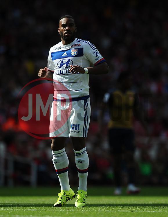 Alexandre Lacazette of Lyon  - Mandatory by-line: Joe Meredith/JMP - 25/07/2015 - SPORT - FOOTBALL - London,England - Emirates Stadium - Arsenal v Lyon - Emirates Cup