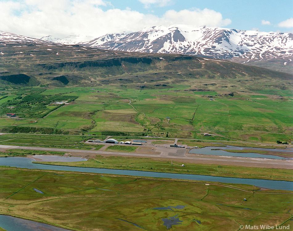 Akureyrarflugvöllur BIAR, loftmynd  að austan..Akureyri airport  BIAR - aerial view from east.