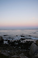 Photo Monterey Sunset wall art. Pink sky, sailboat, ocean, waves, rocks. Matted print, Pacific Grove, Central Coast, Southern California photography. Fine art photography limited edition.