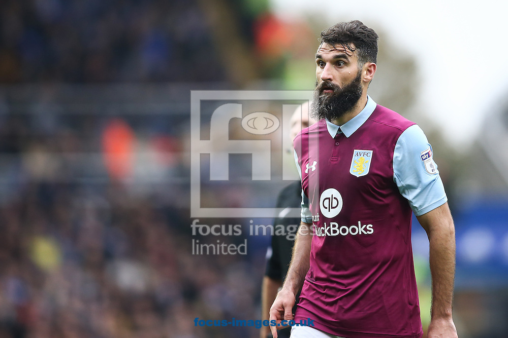 Mile Jedinak of Aston Villa during the Sky Bet Championship match at St Andrews, Birmingham<br /> Picture by Andy Kearns/Focus Images Ltd 0781 864 4264<br /> 30/10/2016