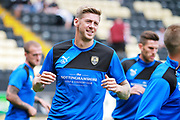 Notts County forward Jonathan Stead (30) warming up before the EFL Sky Bet League 2 match between Notts County and Chesterfield at Meadow Lane, Nottingham, England on 12 August 2017. Photo by Nigel Cole.