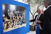 BARI 11.04.2010<br /> PIAZZA FERRARESE-SALA MURAT<br /> CONFERENZA STAMPA DI PRESENTAZIONE DEGLI INCONTRI<br /> DI QUALIFICAZIONE AI CAMPIONATI EUROPEI 2011<br /> NELLA FOTO IL SINDACO DEL COMUNE DI BARI MICHELE EMILIANO