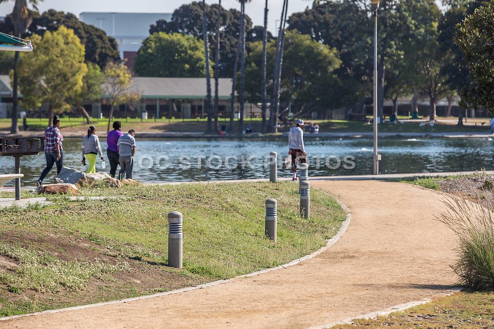 Walking at the Lake at Alondra Park
