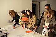 Fired Up, Exhibition of work by Joe Clark, Lauren Cotton, Rory McCartney, David Jones and Farid Rasulov. Gazelli Art House. Wakefield st. London. WC1. 10 February 2011. -DO NOT ARCHIVE-© Copyright Photograph by Dafydd Jones. 248 Clapham Rd. London SW9 0PZ. Tel 0207 820 0771. www.dafjones.com.