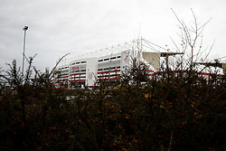A General View outside the stadium - Photo mandatory by-line: Rogan Thomson/JMP - 07966 386802 - 01/01/2015 - SPORT - FOOTBALL - Stoke-on-Trent, England - Britannia Stadium - Stoke City v Manchester United - New Year's Day Football - Barclays Premier League.