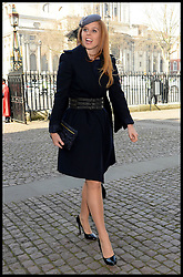 Princess Beatrice of York arrives at Westminster Abbey for the service to celebrate the life and work of Sir David Frost, Westminster Abbey, London, United Kingdom. Thursday, 13th March 2014. Picture by Andrew Parsons / i-Images