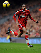 David Ngog during the Barclays Premier League match between Liverpool and Manchester City at Anfield - 21/11/09