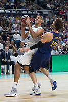Real Madrid Walter Tavares and FC Barcelona Lassa XXX during Liga Endesa match between Real Madrid and FC Barcelona Lassa at Wizink Center in Madrid, Spain. November 12, 2017. (ALTERPHOTOS/Borja B.Hojas)