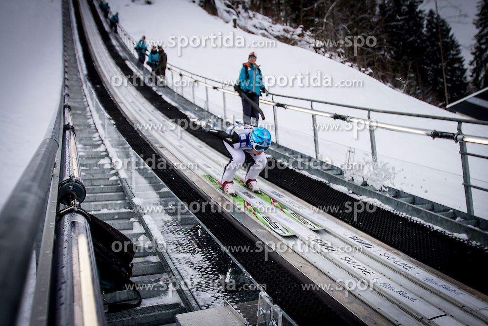 Bor Pavlovcic, young slovenian ski jumper, at 12th European Youth Olympic Winter Festival in Vorarlberg and Liehtenstein on January 27, 2015. (Photo by Peter Kastelic / Sportida.com)