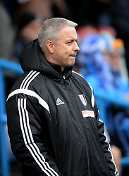 Fulham Manager, Kit Symons looks on - Photo mandatory by-line: Richard Martin-Roberts/JMP - Mobile: 07966 386802 - 21/03/2015 - SPORT - Football - Huddersfield - John Smith's Stadium - Huddersfield Town v Fulham - Sky Bet Championship