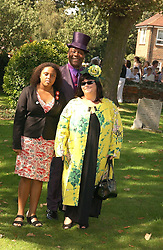 LENNY HENRY and DAWN FRENCH with their daughter at the wedding of musician Jools Holland to Lady Crystabel Durham held at Cooling Village Church, Cooling, Kent on 30th August 2005.<br /><br />NON EXCLUSIVE - WORLD RIGHTS