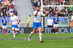 March 16, 2019 - Rome, Italy - Tito Tebaldi during RBS Six Nations Rugby Championship, Italia v Francia at the Olympic Stadium in Rome, on march 16, 2019  (Credit Image: © Silvia Lore/NurPhoto via ZUMA Press)