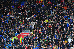 Cardiff City fans watch the match from the stands  - Mandatory by-line: Nizaam Jones/JMP- 30/03/2018 -  FOOTBALL -  Cardiff City Stadium- Cardiff, Wales -  Cardiff City v Burton Albion - Sky Bet Championship