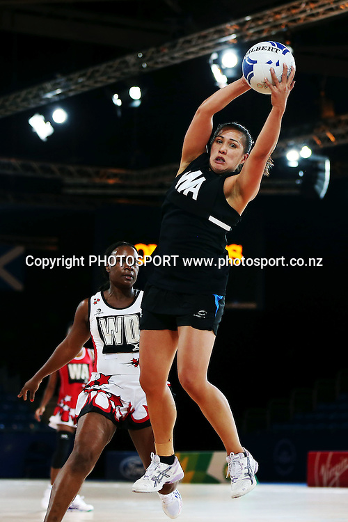 Liana Leota of the Silver Ferns during a Netball training session. 2014 Glasgow Commonwealth Games. Scottish Exhibition Conference Centre, Glasgow, Scotland. Wednesday 23rd July 2014. Photo: Anthony Au-Yeung / photosport.co.nz