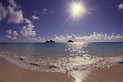 Mokulua islands, Lanikai Beach, Oahu, Hawaii, USA<br />