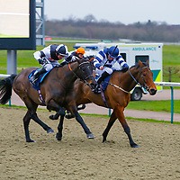 Arch Villain - Jim Crowley wins from John Reel - John Egan<br /> The 32Red Conditions Stakes Cl2<br /> Lingfield Park<br /> 17/2/16.<br /> ©Cranhamphoto.com