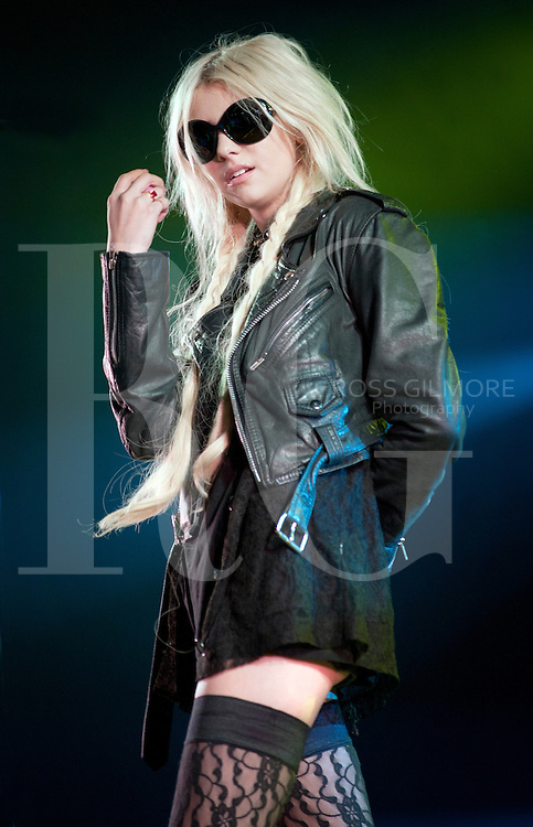 KINROSS, UNITED KINGDOM - JULY 10: Taylor Momsen of The Pretty Reckless performs on stage during the third day of T In The Park Festival 2011 at Balado on July 10, 2011 in Kinross, United Kingdom. Photo by Ross Gilmore