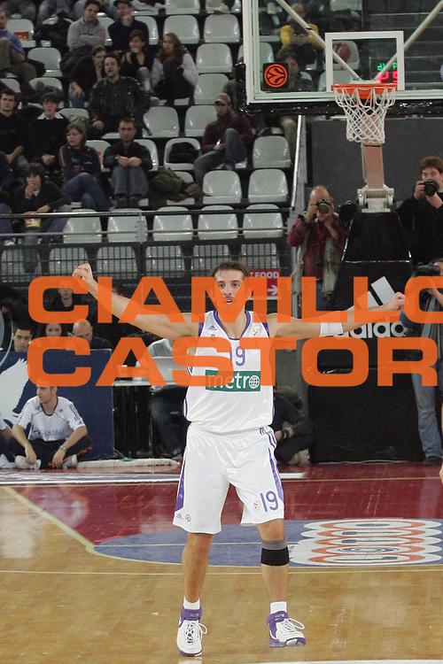 DESCRIZIONE : Roma Eurolega 2007-08  Lottomatica Virtus Roma Real Madrid<br /> GIOCATORE : Kerem Tunceri<br /> SQUADRA : Real Madrid<br /> EVENTO : Eurolega 2007-2008<br /> GARA :  Lottomatica Virtus Roma Real Madrid<br /> DATA : 20/12/2007 <br /> CATEGORIA : Esultanza<br /> SPORT : Pallacanestro <br /> AUTORE : Agenzia Ciamillo-Castoria/A.De Lise