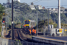 Auckland-Pedestrian hit by commuter train, Hobson Bay