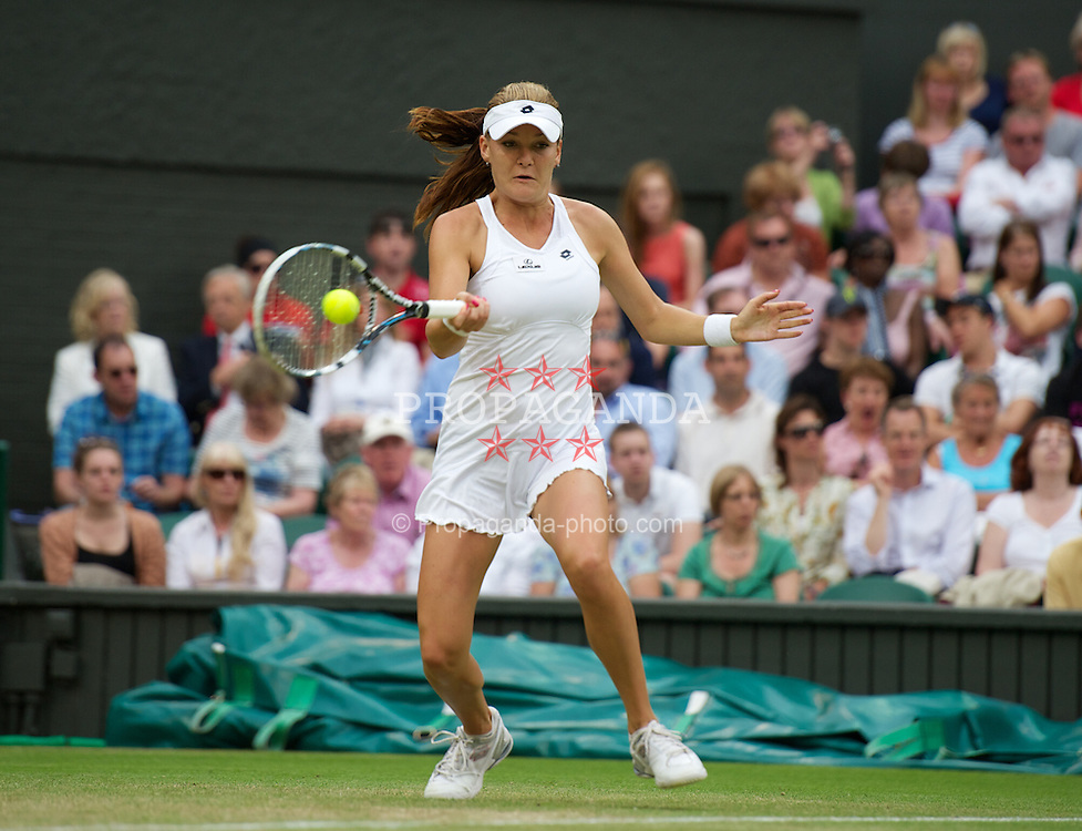 LONDON, ENGLAND - Friday, June 29, 2012: Agnieszka Radwanska (POL) during the Ladies' Singles 3rd Round match on day five of the Wimbledon Lawn Tennis Championships at the All England Lawn Tennis and Croquet Club. (Pic by David Rawcliffe/Propaganda)