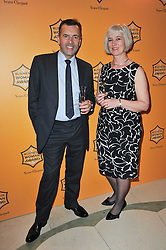 Winner of the 38th Veuve Clicquot Business Woman Award MICHELLE McDOWELL and DUNCAN BANNATYNE at the 38th Veuve Clicquot Business Woman Award held at Claridge's, Brook Street, London W1 on 28th March 2011.